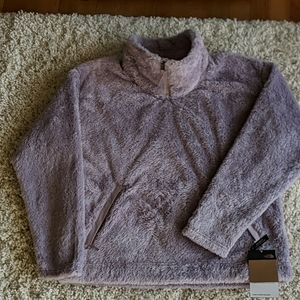 North Face furry fleece pullover